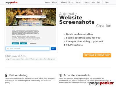 Witryny www - spis